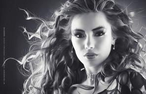 макияж, лицо, взгляд, женщина, девушка, 2019, calendar
