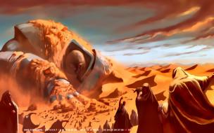 робот, песок, 2019, calendar, люди, пустыня