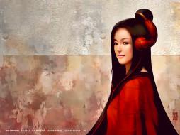 взгляд, кимоно, девушка, calendar, 2019