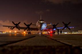 береговой патрульный самолет, аэродром, lockheed p-3 orion, самолет