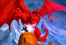 calendar, 2019, воин, красный, крылья, башня, дракон