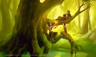 дерево, лес, природа, эльф, растение, существо, calendar, 2019