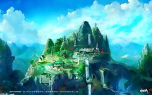 город, гора, природа, водопад, 2019, calendar, панорама