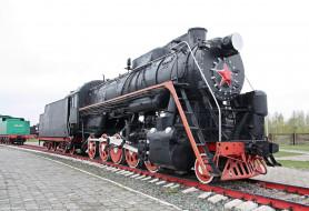 локомотив, шпалы, рельсы, Паровоз, музей