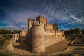 castillo de la mota, города, замки испании, простор