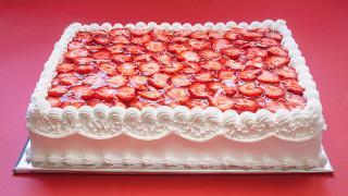 еда, торты, клубника, торт, крем