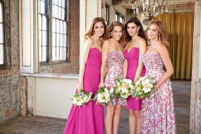 цветы, букеты, фотосессия, модели, девушки