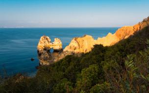 природа, побережье, скалы