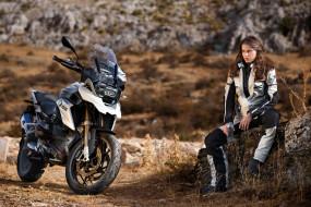 BMW, мотоцикл, девушка, модель