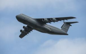 lockheed c-5 galaxy, авиация, военно-транспортные самолёты, американский, стратегический, военно, -, транспортный, самолет, с-5m, ввс, сша, военные, самолеты