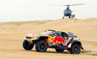 автомобиль, гоночные автомобили, пустыня, вертолет, транспортное средство, гонка, ралли, пески