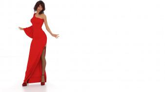 фон, девушка, взгляд, платье