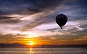 авиация, воздушные шары дирижабли, небо, шары, воздушные, простор, полет