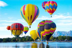 авиация, воздушные шары дирижабли, небо, простор, шары, воздушные, полет