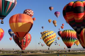 воздушный, шар, полет, небо, простор