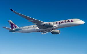 airbus a350-900, авиация, пассажирские самолёты, пассажирский, самолет, qatar, airways, авиаперевозки, airbus, a350, xwb, современные, самолеты