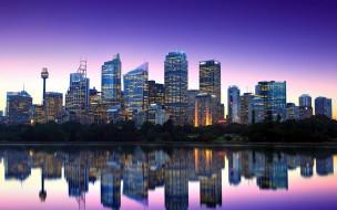 города, сидней , австралия, небоскребы