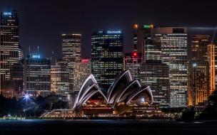 города, сидней , австралия, опера