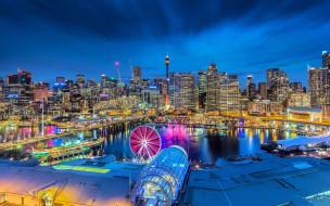города, сидней , австралия, панорама