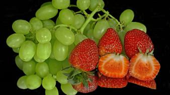 виноград, клубника