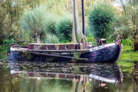 корабли, баркасы ,  буксиры, баркас, сети, рыбацкий