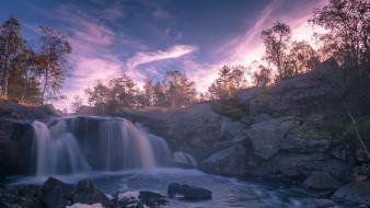природа, водопады, простор