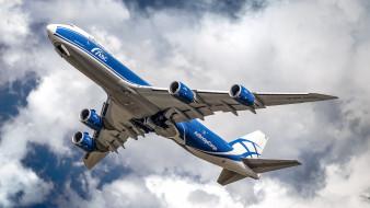 boeing 747-8hv, авиация, пассажирские самолёты, авиалайнер