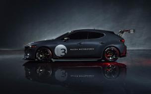 mazda 3, новые авто, японские автомобили, гоночный автомобиль, хэтчбек, тюнинг, экстерьер, вид сбоку, 2020, mazda 3 tcr