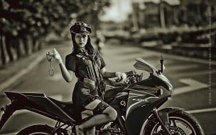 полицейский, calendar, 2019, женщина, улица, азиатка, девушка, наручники, мотоцикл