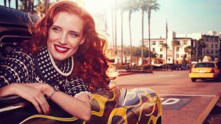 улыбка, лицо, взгляд, поза, волосы, рыжая, рыжеволосая, красотка, модель, актриса, девушка, Jessica Chastain