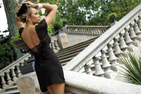 Татьяна, Верёвкина, девушка, модель, Adelina Tomhson, поза, стройная, красотка, блондинка, бельё, макияж, взгляд