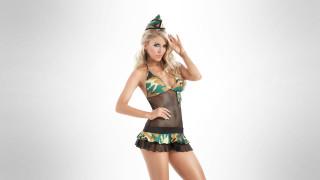 модель, девушка, Lina Posada, блондинка, красотка, красавица, поза, взгляд, бельё, стройная