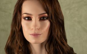 лицо, шатенка, девушка, Yana Arbenina, модель, портрет, взгляд, макияж