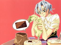 торт, крем, девушка, шоколадка