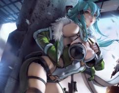 аниме, sword art online, синон