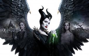 обои для рабочего стола 2560x1600 кино фильмы, maleficent,  mistress of evil, коллаж