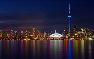 города, торонто , канада, панорама