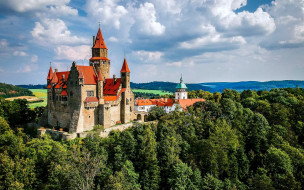 bouzov castle in czechia, города, замки чехии, bouzov, castle, in, czechia