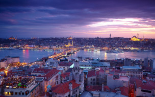 города, стамбул , турция, панорама