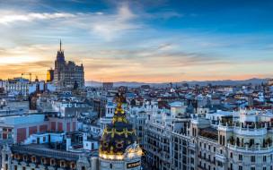 города, мадрид , испания, панорама