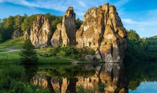 природа, пейзажи, горы, озеро, отражение