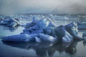 природа, айсберги и ледники, простор