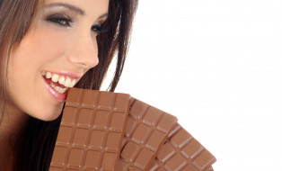девушки, izabela magier, шоколад, шатенка, лицо