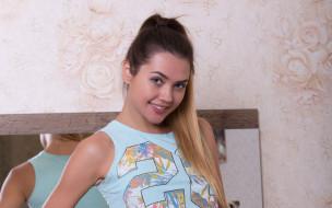 поза, крашеная, шатенка, модель, девушка, Susza K, взгляд, макияж, стройная, красотка, Polina Kadynskaya