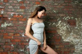 взгляд, Polina Kadynskaya, стройная, красотка, модель, шатенка, крашеная, поза, девушка, Susza K, макияж