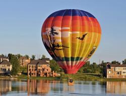 воздушный шар, авиация, воздушные шары дирижабли, дома, шар, город, полёт, воздушный