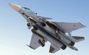 су-34, авиация, боевые самолёты, вид, снизу, су34, fullback, истребитель, изделие, т-10в