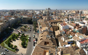 города, валенсия , испании, панорама