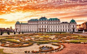 города, вена , австрия, belvedere, palace