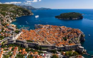dubrovnik, croatia, города, дубровник , хорватия, город, курорт, круизный, лайнер, дубровник, лето, побережье, адриатическое, море